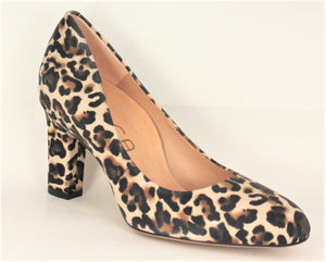 Umis High Heel Leopard Print Court Shoe
