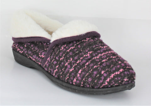 R & R Harper Soft Fur Lined Full Slipper