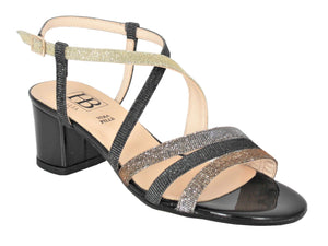 Low Heel Strappy Evening Sandal