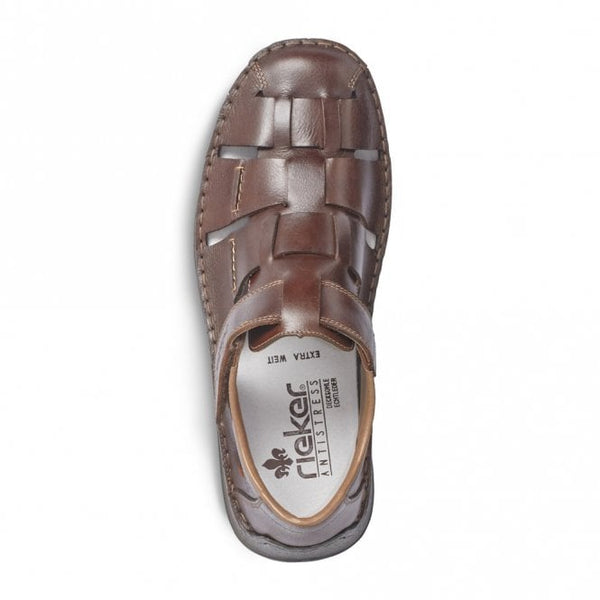 Rieker Mens Brown Leather Fishermans Sandal
