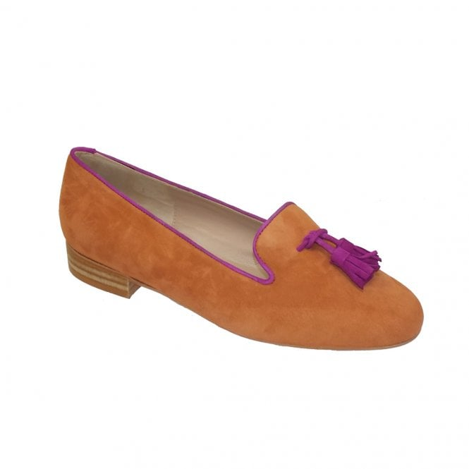 HB Shoes Clover Copper Suede Pink Trim