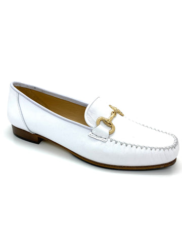 HB Shoes White Snaffle Front Classic Loafer