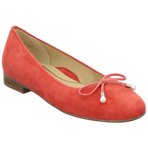 Ara Ladies Pump Coral Suede