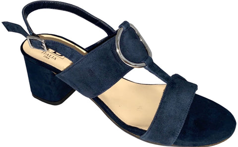HB Italia Ladies Block Heel Sandal Navy