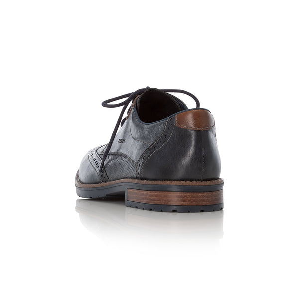 Rieker Gents Lace Up Shoe Blue