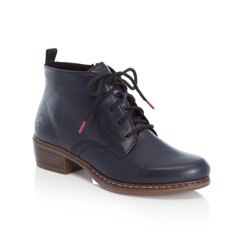 Rieker Ladies Lace Up Ankle Boot Navy