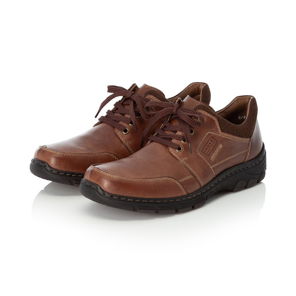 Rieker Mens Lace Up Shoe Brown