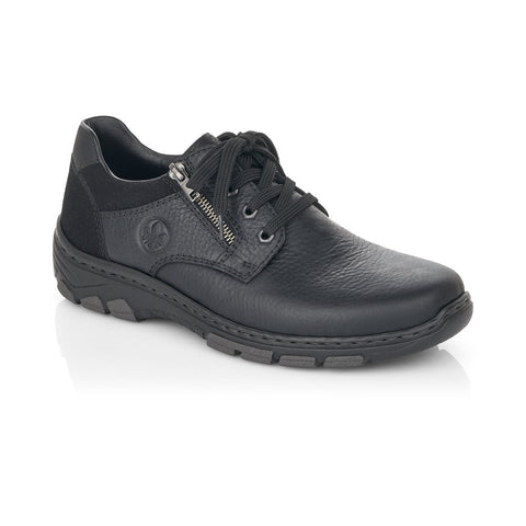 Rieker Mens Lace Up Shoe Black