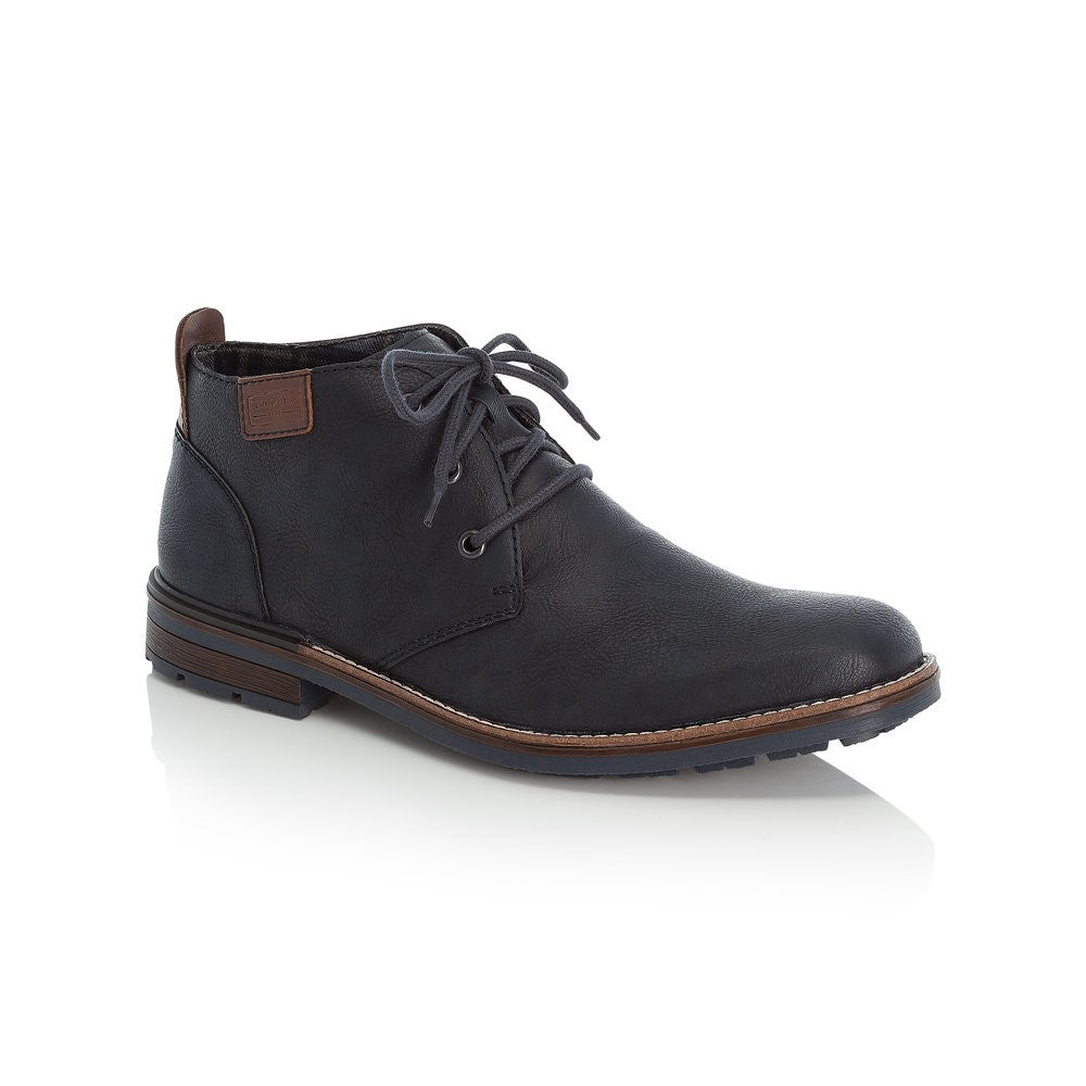 Rieker Mens Lace Up Chukka Boot Navy
