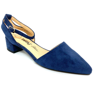 Betsy Ladies Low Heel Shoe Navy