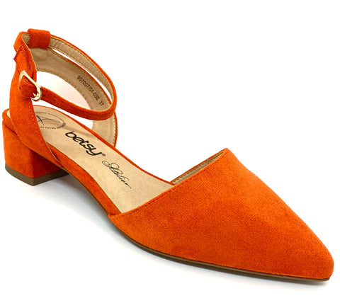 Betsy ladies Low Heel Shoe Orange