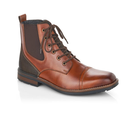 Rieker Mens Lace Up Ankle Boot