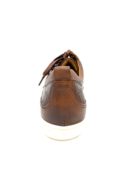 Caprice Ladies Zip Sneaker Brown
