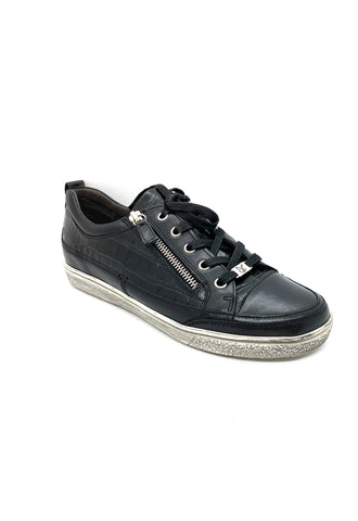 Caprice Ladies Zip Sneaker Black
