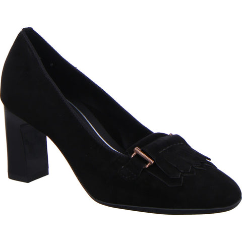 Ara Ladies Tab Front Heeled Court Shoe