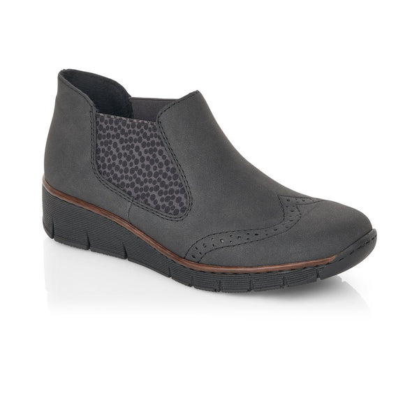 Rieker Ladies Elastic Sided Flat Boot