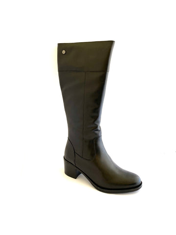 Caprice Ladies Block Heeled Boot Black