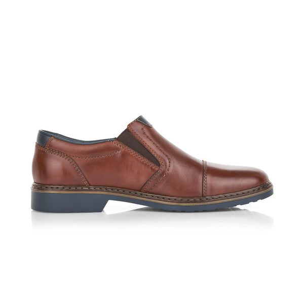 Rieker Men's Slip On Shoe Brown