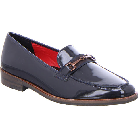 Ara ladies Patent loafer Shoe Navy