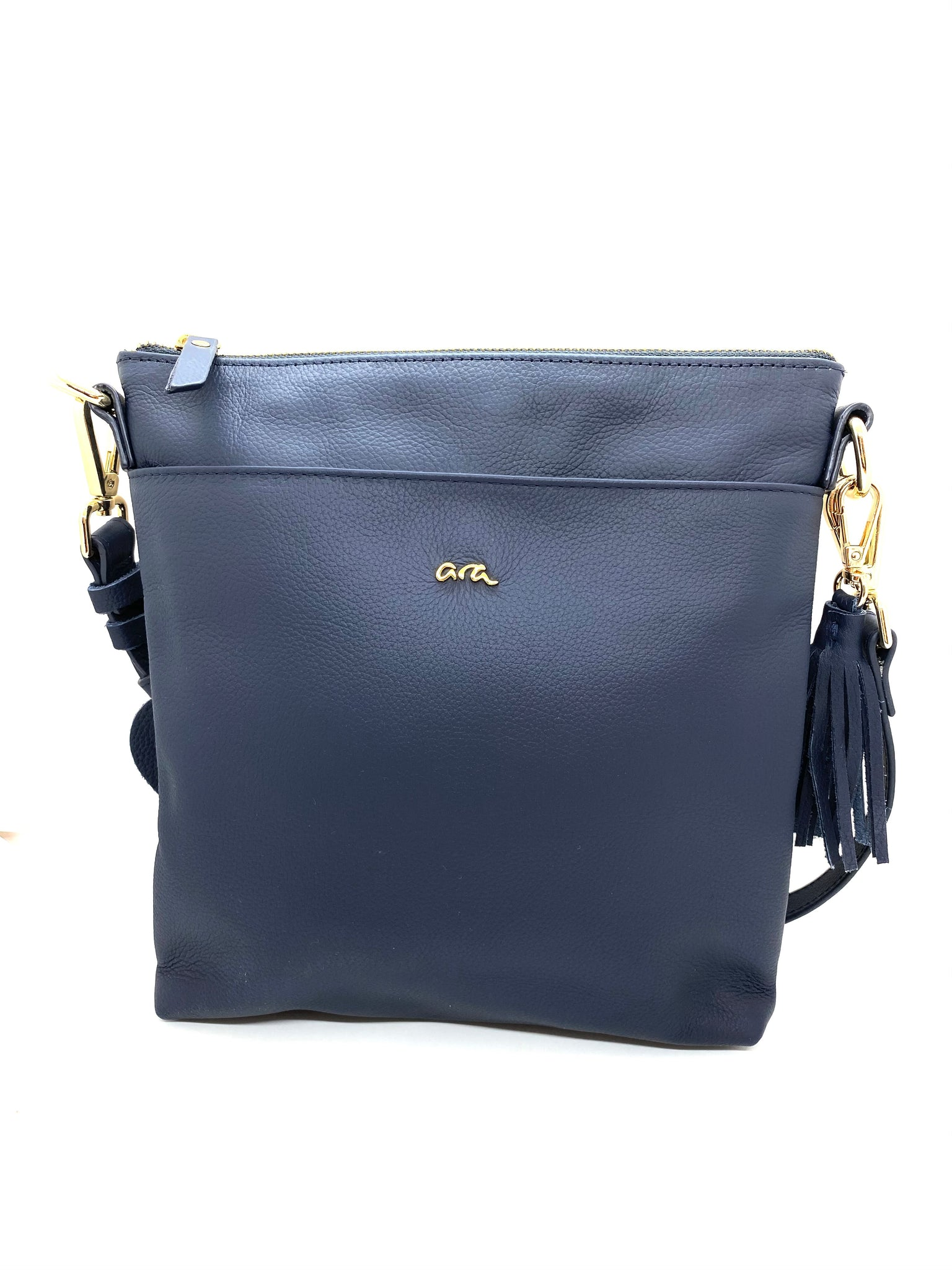 Ara Ladies Leather shoulder Bag Navy