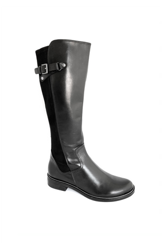 Caprice Ladies Long Zip Sided Flat Boot
