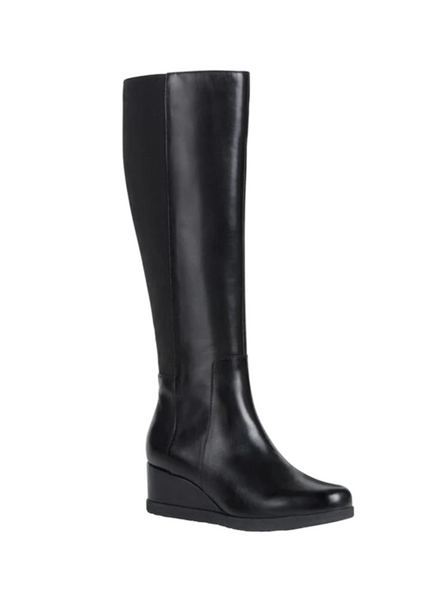Geox Ladies Anylla Wedge Long Boot