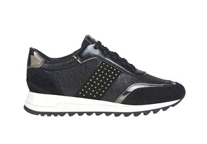 Geox ladies Tabelya Lace Up Sneaker Black