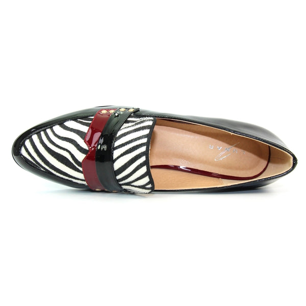 Lunar ladies Clancy Flat Animal Print Loafer
