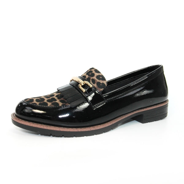 Lunar Ladies Antonell II Animal Print Loafer Shoe