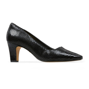Van Dal Ophelia Ladies Court Shoe Black Feature Print