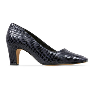 Van Dal Ophelia Ladies Court Navy Feature Print
