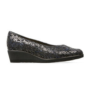 Van Dal Ladies Ariah Wedge Heel Court Black Feature