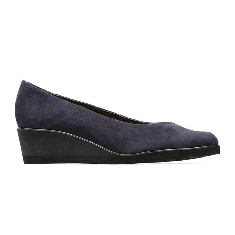Van Dal Ariah Ladies Wedge heel Court Shoe Navy