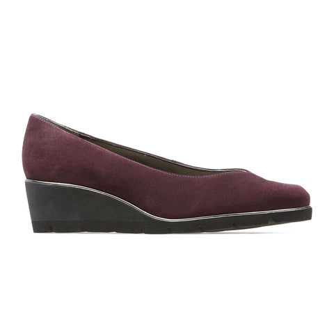 Van Dal Ariah Ladies Wedge Heel Court Bordo
