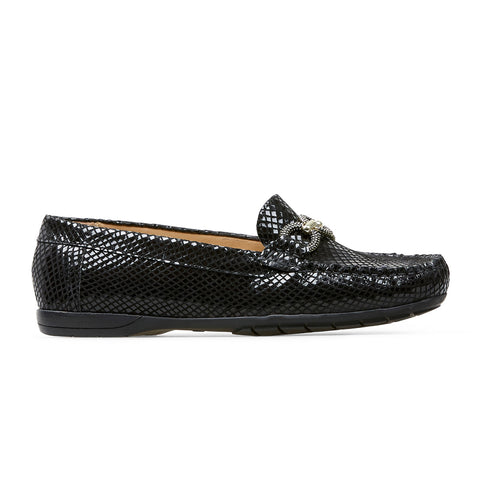 Van Dal Bliss II Ladies Loafer Black Feature Print