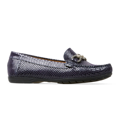 Van Dal Bliss II Ladies Loafer Navy Feature Print