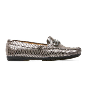 Van Dal Bliss II Ladies Loafer Shoe Metallic Print