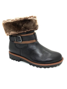 Regarde Le Ciel Nika Ladies Ankle Lace Up Boot Faux Fur Cuff