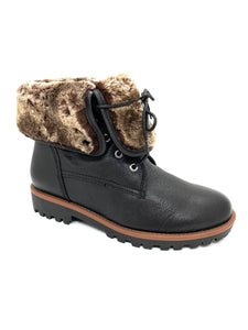 Regarde Le Ciel Nika Ladies Ankle Boot Faux Fur Cuff