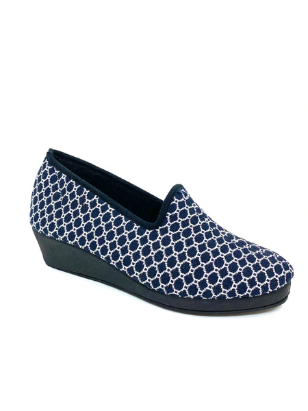 HB Ferrani Ladies Wedge Heel Full Slipper