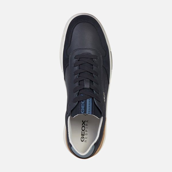 Geox Men's Segnale Lace Up Sneaker Navy