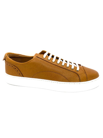 Barker Men's Bert Grain Leather Cup Sole Sneaker