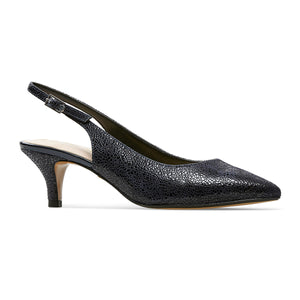 Van Dal ladies Dene Kitten Heel Sling Back Navy