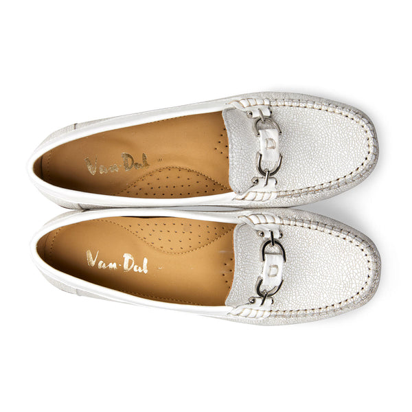 Van Dal Ladies Bliss Loafer Feature Print White