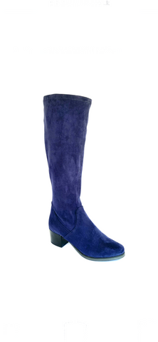 Caprice Ladies Stretch Faux Suede Boot Navy