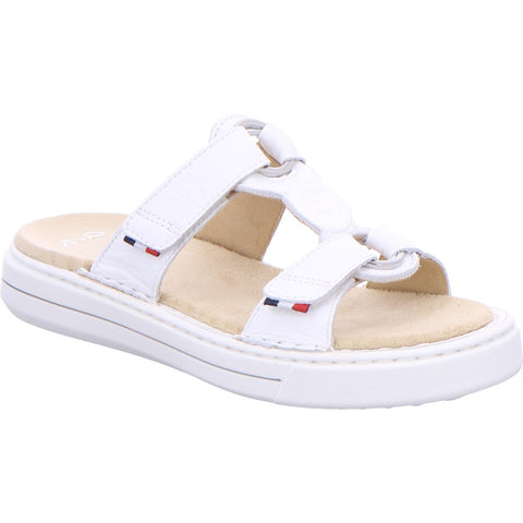 Ara Ladies Adjustable Mule Sandal White