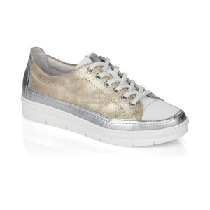 Remonte Ladies Lace Up Casual Metalic Shoe