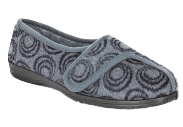 R & R Amelia Full Slipper With Velcro Closure