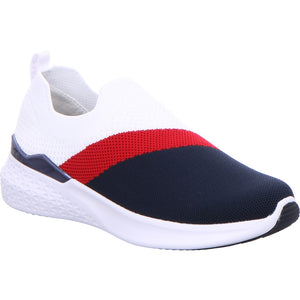 Ara Ladies Woven Stretch Slip On Multi Sneaker
