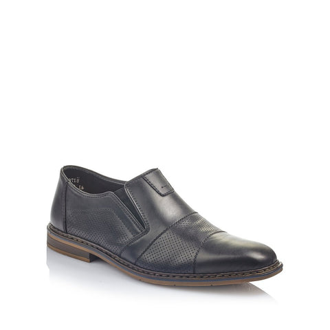 Rieker Men's Slip On Shoe Black